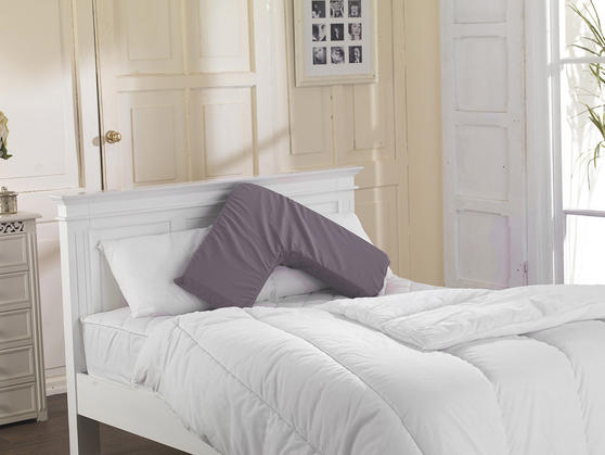 V Shape Memory Firm/ Hard Pillow with FREE 2 Pillowcases Thumbnail 3