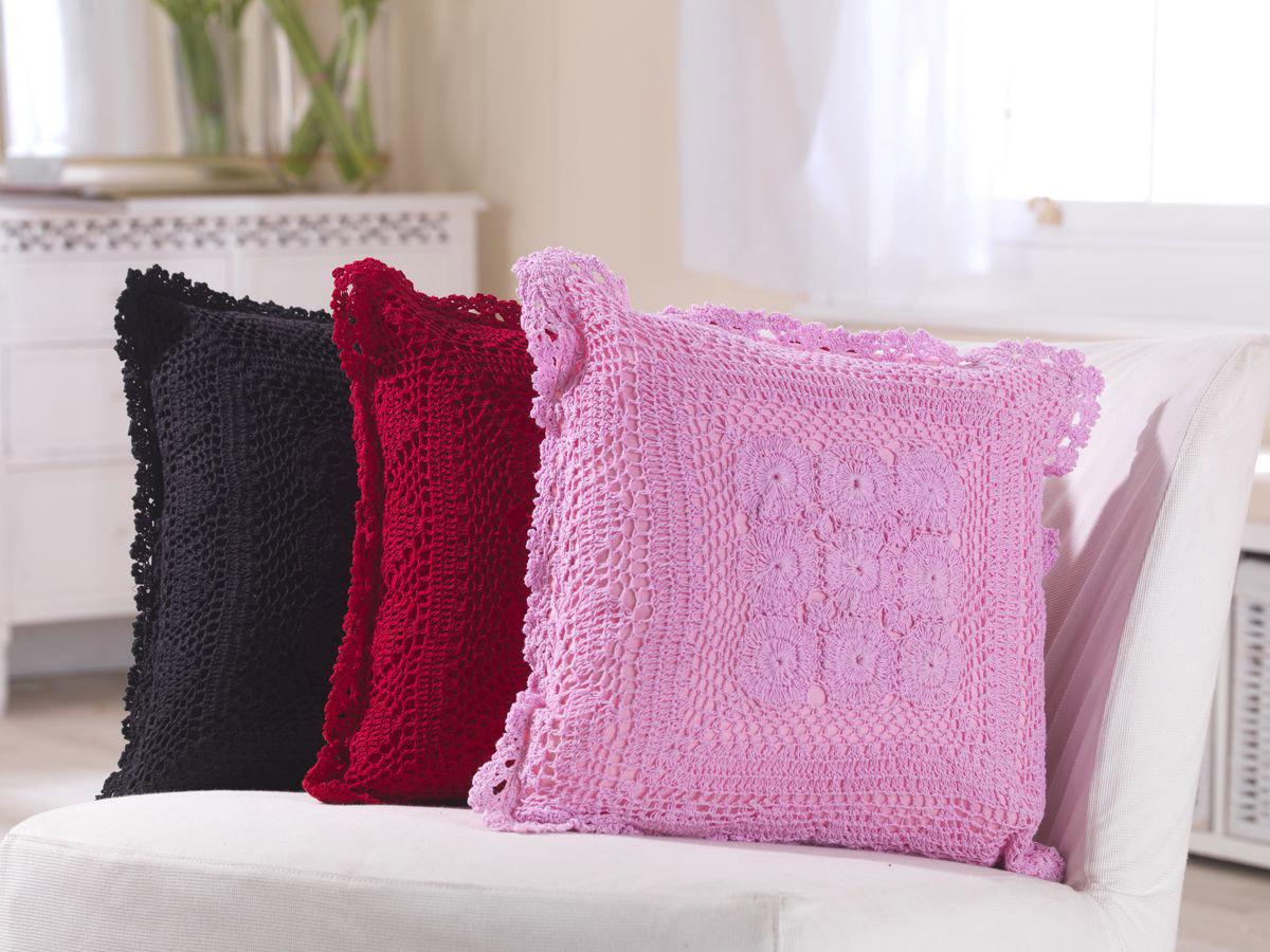 Crochet Knit Cushions