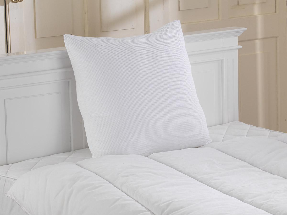 65cm x 65cm - 100% Cotton Euro Continental Waffle Pillows