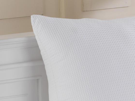 65cm x 65cm - 100% Cotton Euro Continental Waffle Pillows  Thumbnail 3