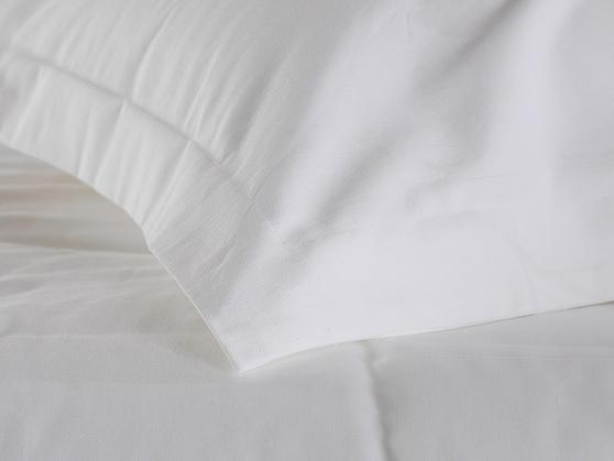 Premium White Linen Range - 20 or 30 Twill Pattern 100% Cotton Duvet Covers in White Thumbnail 2