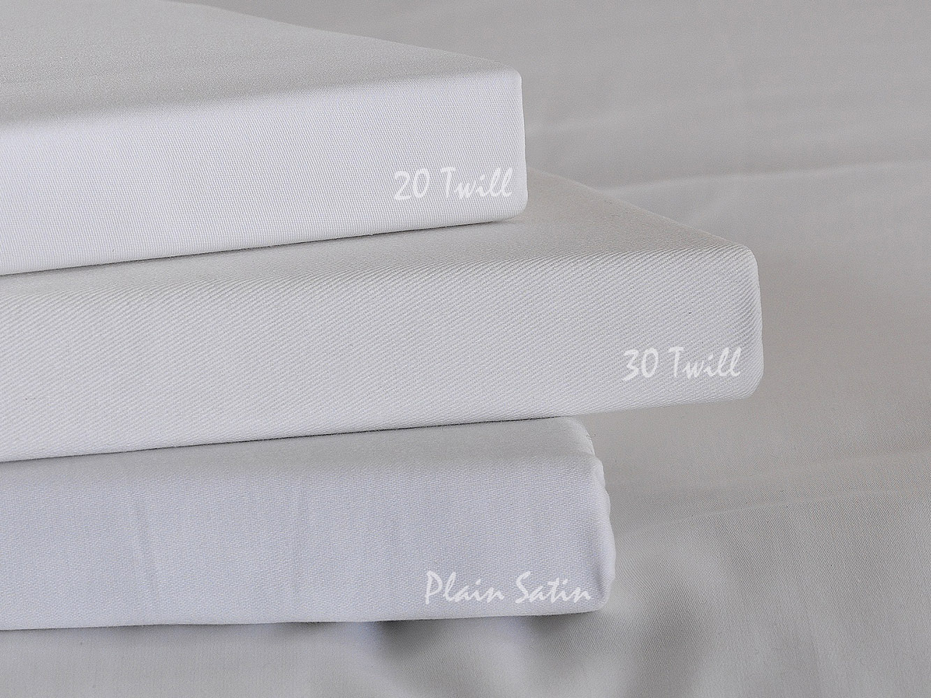 Premium White Linen Range - 300 TC 100% Cotton Fitted Sheets in White