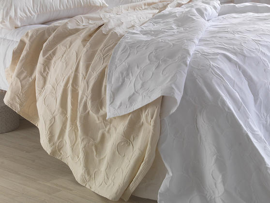Matelasse Cotton Rich Floral Embossed Florence Bedspreads Thumbnail 2
