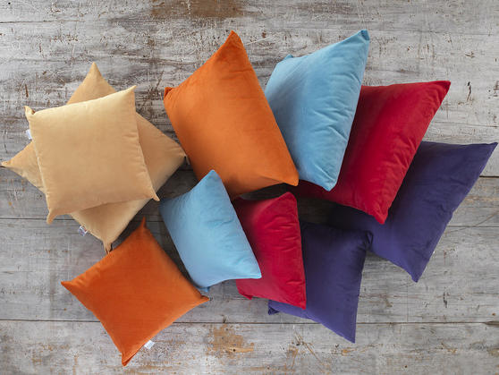 Soft Velour Glamour Scatter Cushions in Various Colours Thumbnail 1