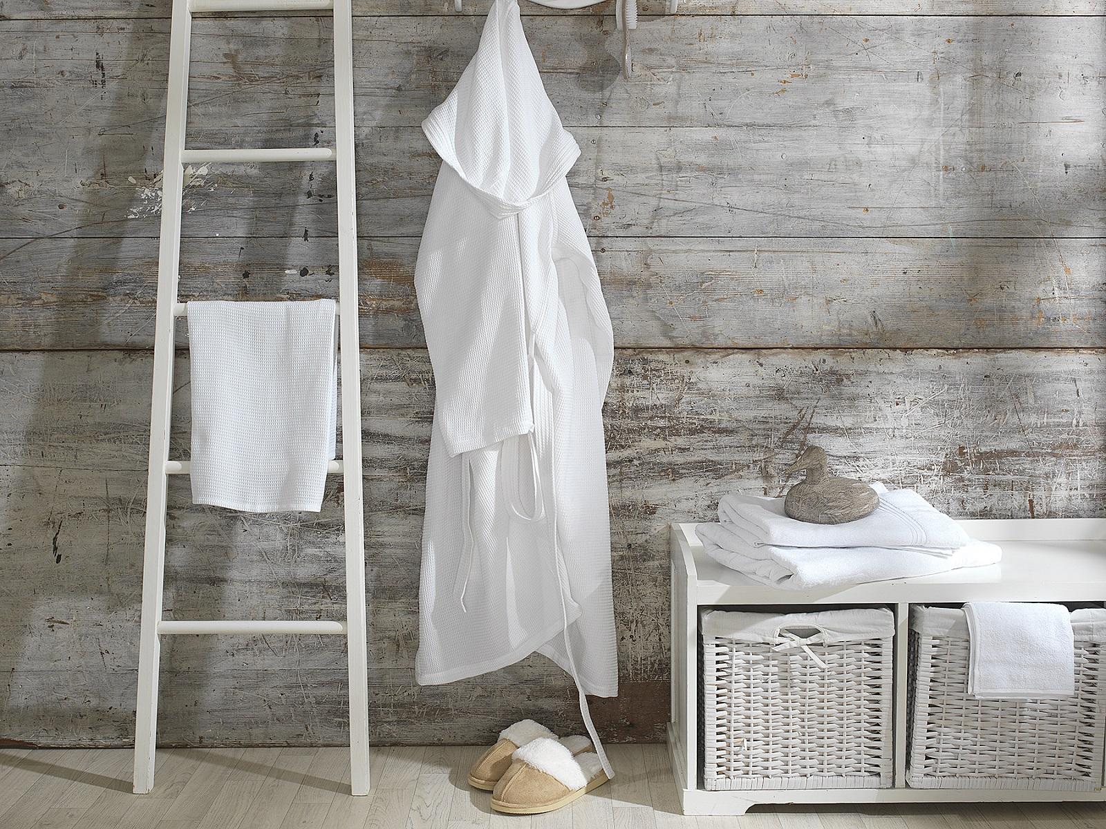 Prestige Collection - Lightweight Unisex Bath Robe with Hood