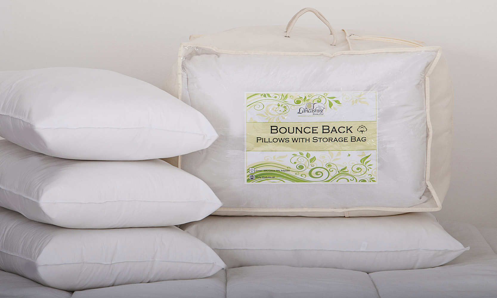 Bounce Back Pillows with Storage Bag