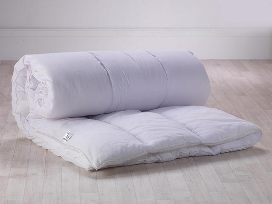 13.5 Tog - Luxury Egyptian Cotton White Hollowfibre Filled Duvet Thumbnail 2
