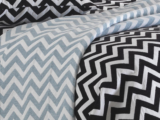 Luxurious Chenille Chevron Bedspreads Throws and Cushion Covers Cases Thumbnail 2