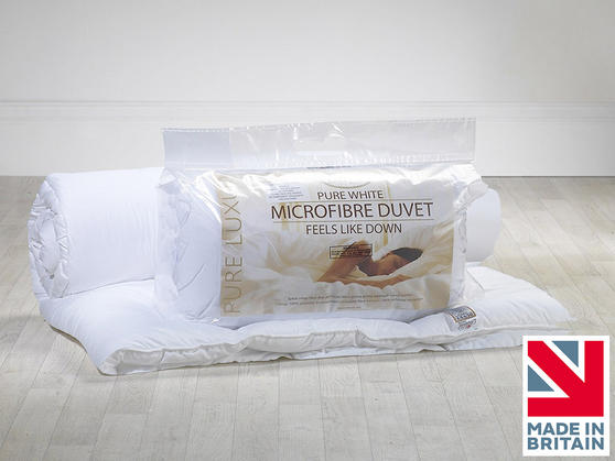 Slight Second - Pure White 10.5 Tog Microfibre Duvet Thumbnail 3