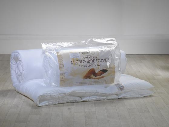Slight Second - Pure White 13.5 Tog Microfibre Duvet Thumbnail 3