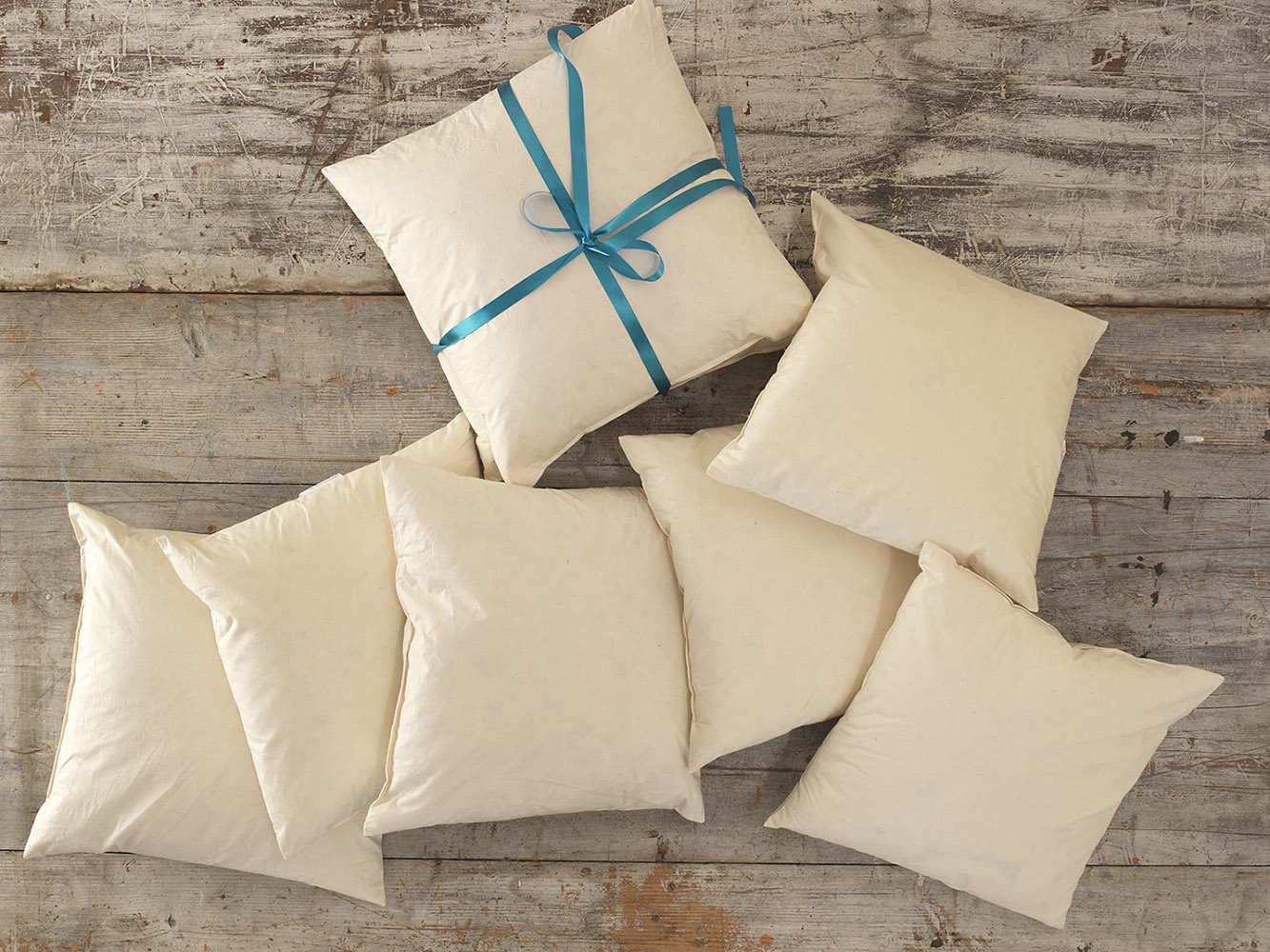 Duck Feather Cushion Pads with 100% Cotton Casing - Handmade