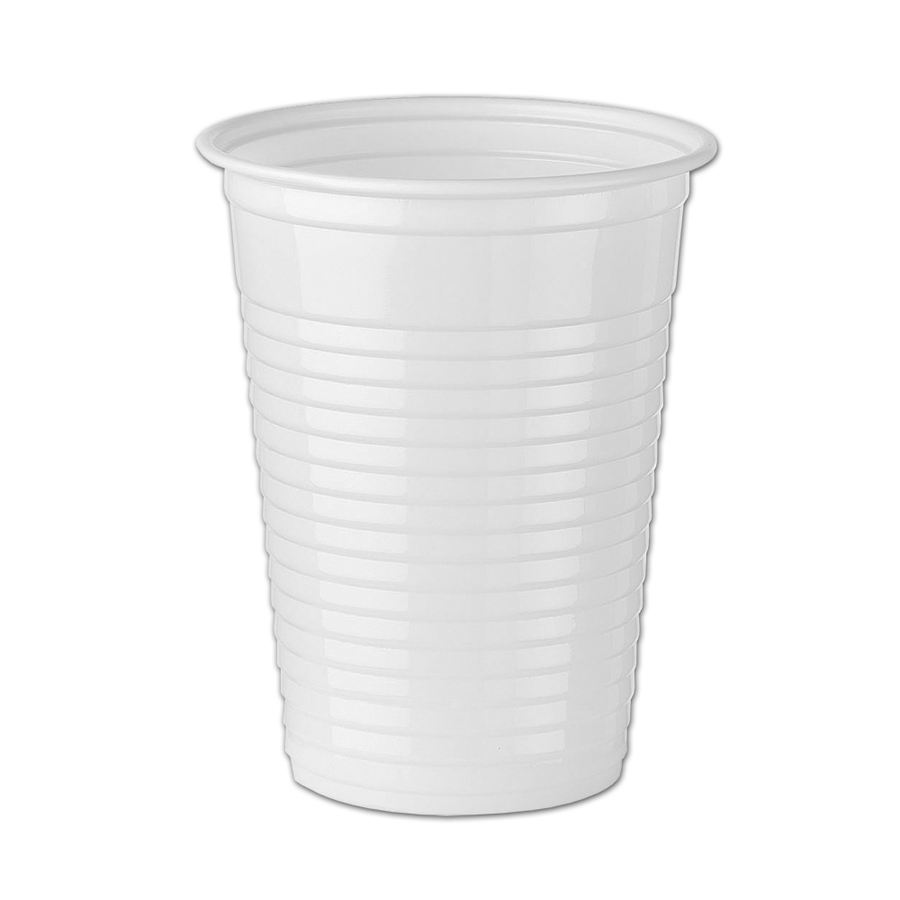 1000 7oz White Plastic Cups Water Cooler Vending
