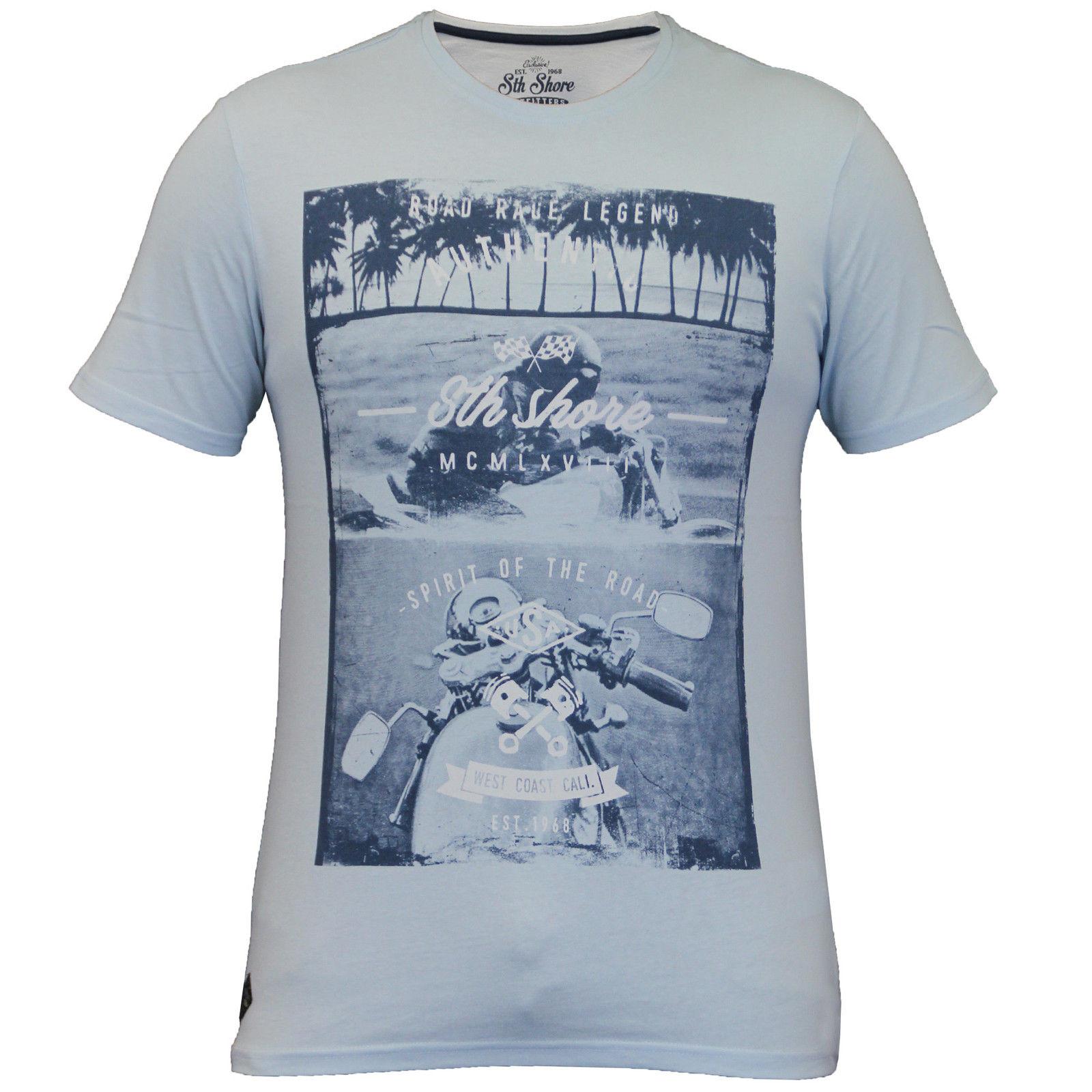 61ddaa7fd Mens South Shore Graphic Photo Print T-shirt Assorted Designer Cotton Tee  Shirt. Thumbnail 11