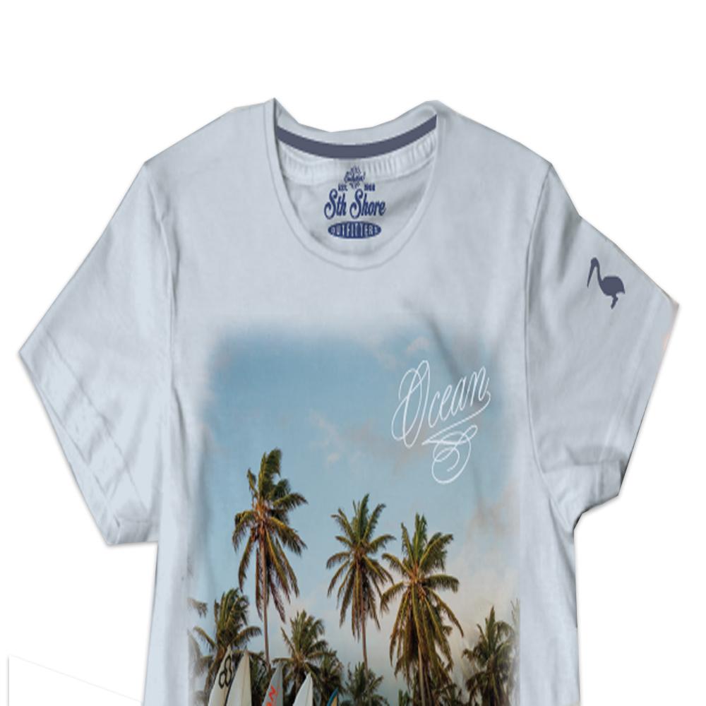 80803e27a Mens South Shore Graphic Photo Print T-shirt Assorted Designer ...