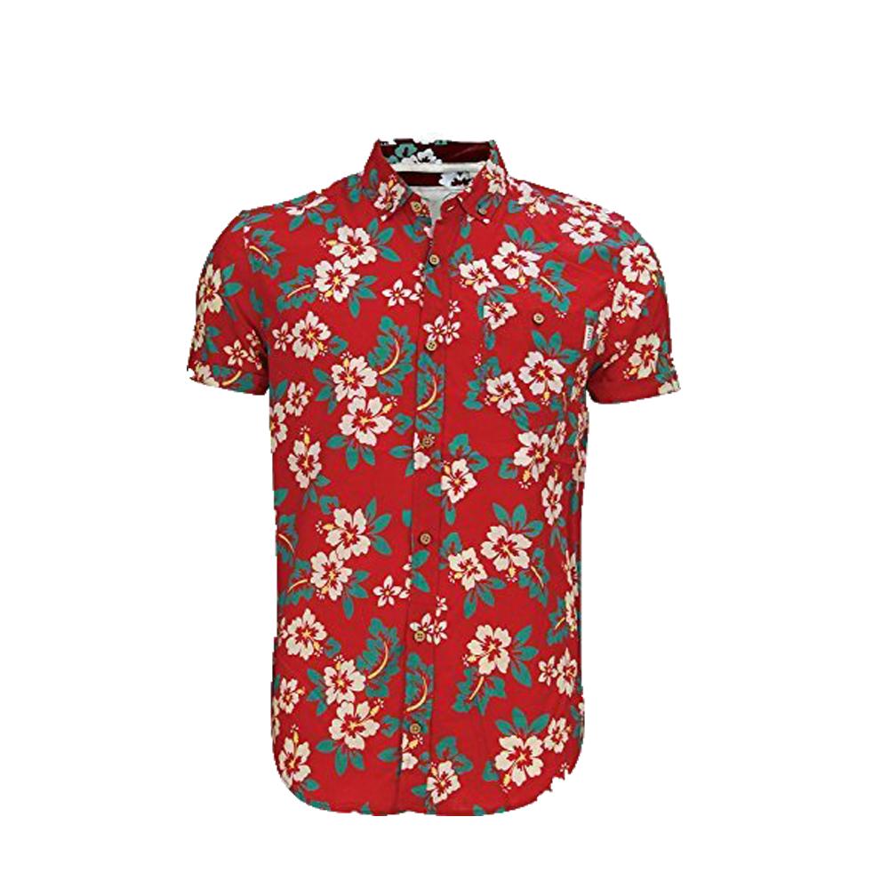 Mens Soul Star Tiki Hawaiian Shirt Short Sleeve Floral Shirt 9 Styles