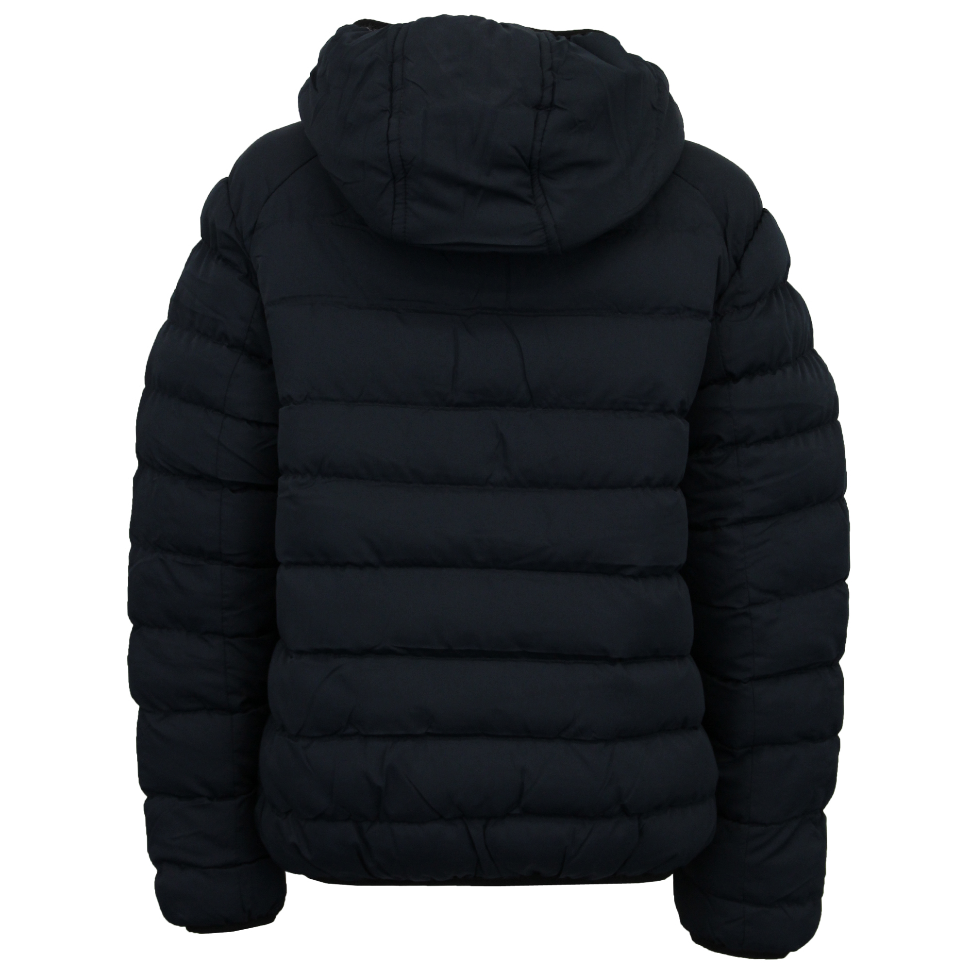 1e3a56718 Details about Mens Bubble Coat Hooded Quilted Plain Padded Puffer Jacket By  Brave Soul