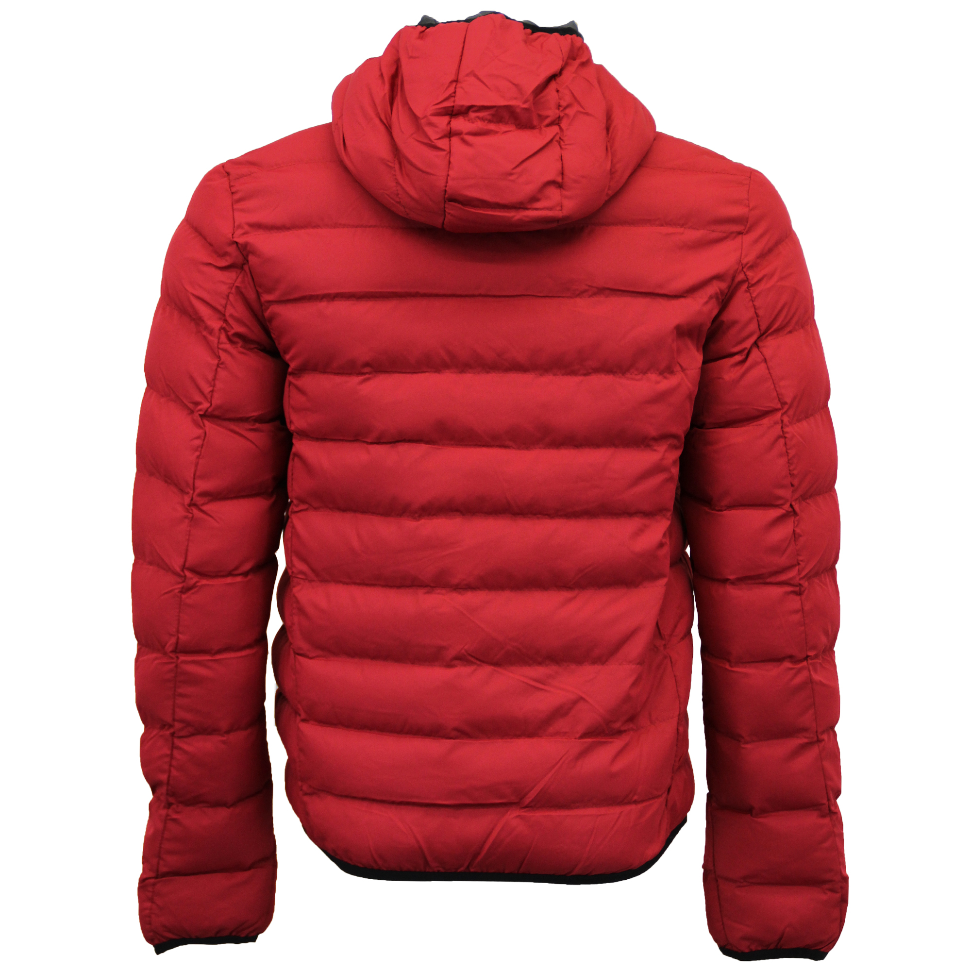 Mens Bubble Coat Hooded Quilted Plain Padded Puffer Jacket