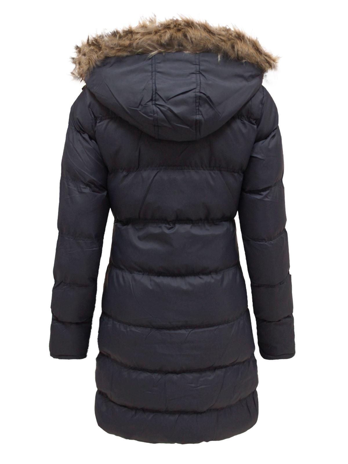 c4473567994 Sentinel Ladies Brave Soul Hop Long Hooded Padded Puffer Parka Winter  Jacket Coat