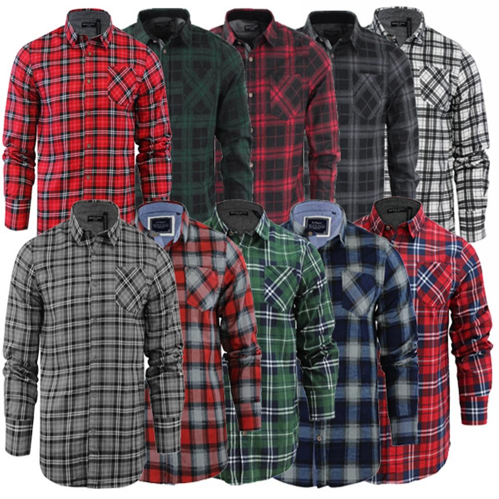 Mens Brave Soul Lumberjack Check Shirt Collection Brushed Cotton