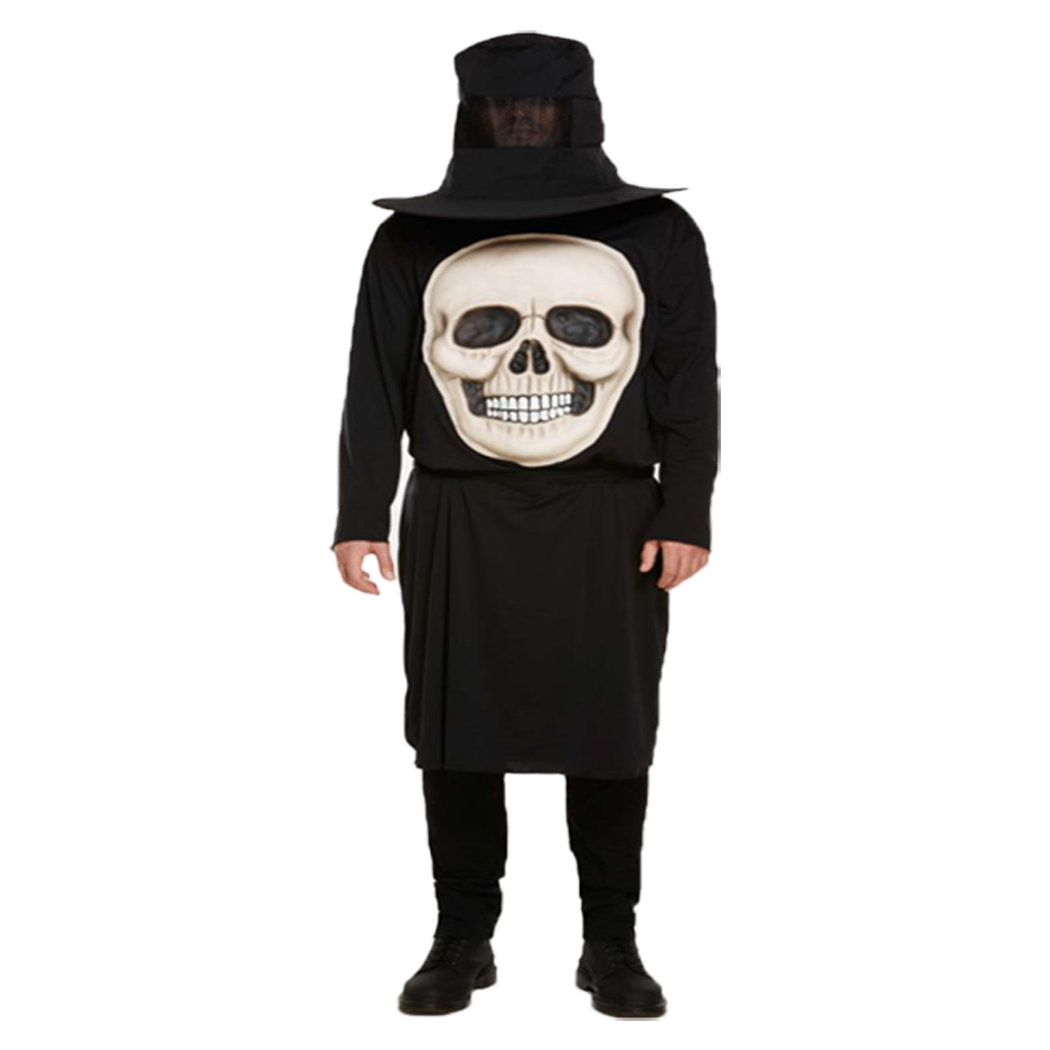 Mens Male Adult Outfit Horny Skeleton Medium For Halloween Fancy Dress Costume