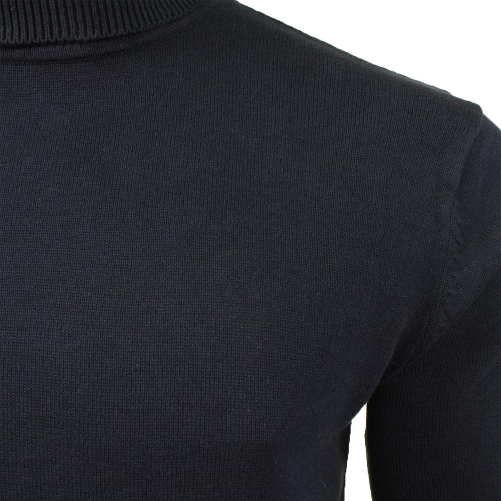 a2e617c1469 Mens Brave Soul 'Hume' Roll Neck Polo Light Cotton Knitwear Jumper Sweater