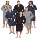 fd9d99376e Mens Pierre Roche Luxury 100% Cotton Soft Terry Bath Spa Robe Dressing Gown  Thumbnail 1
