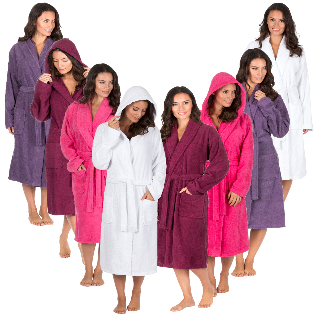 Ladies Forever Dreaming Luxury 100% Cotton Soft Terry Bath Robe ...