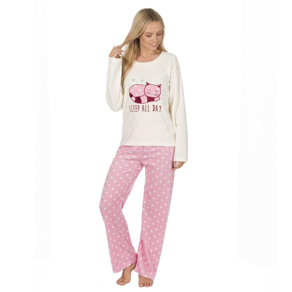 498353cd1c Previous. Ladies Forever Dreaming Novelty Soft Warm Micro Fleece PJ Animal  Pyjama Twosie Thumbnail 6
