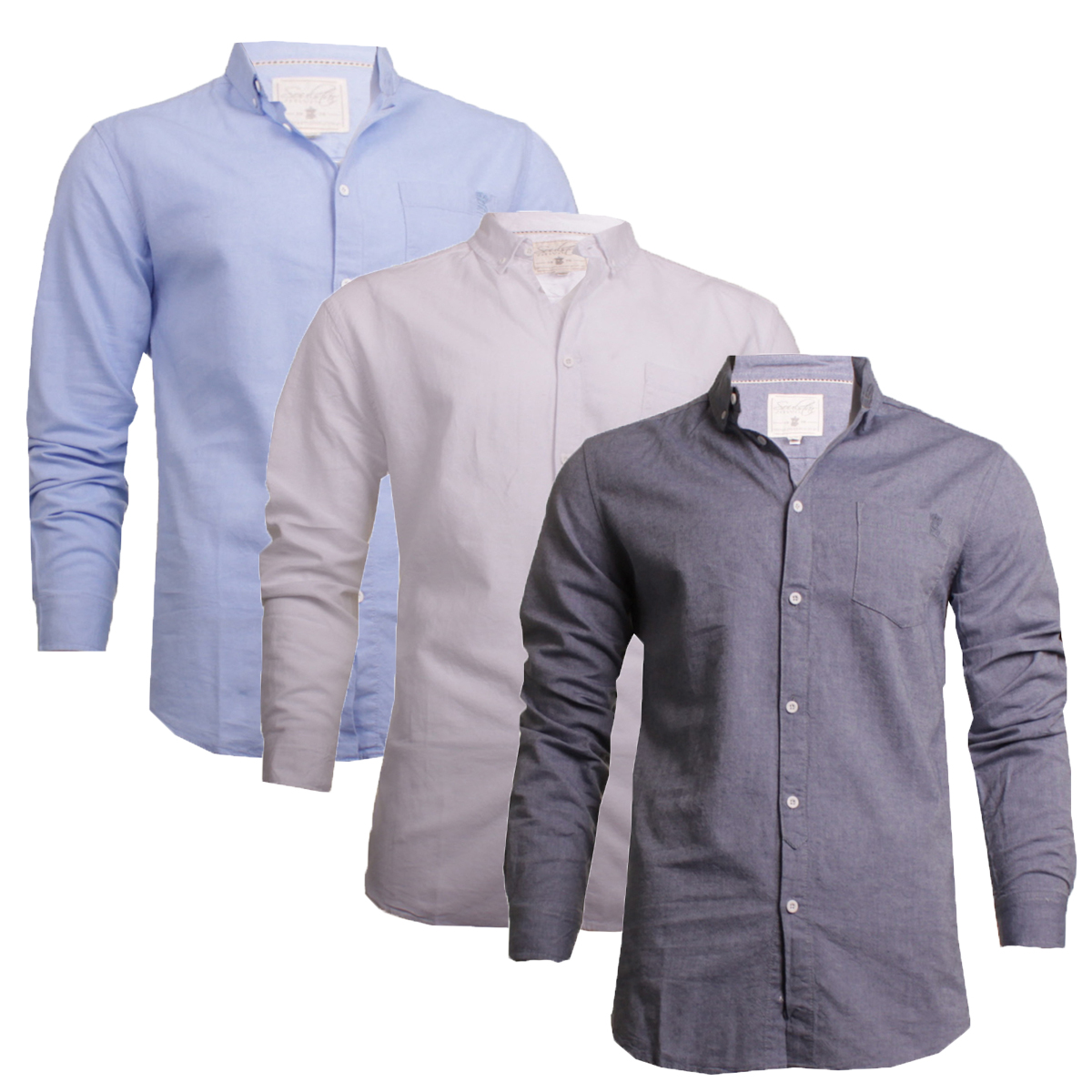 8369c8b4dfd3 Details about Mens Long Sleeve Oxford Summer Casual Shirt By Soul Star