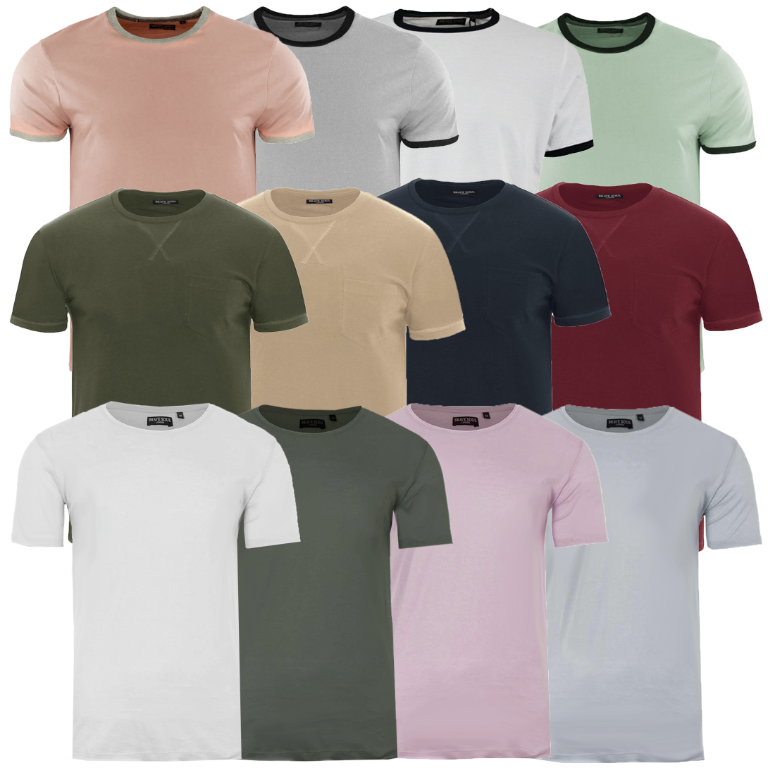 bf135c363cf Details about Mens Brave Soul T-Shirts Soft Cotton Rich Summer Tee Shirt Tee  Top