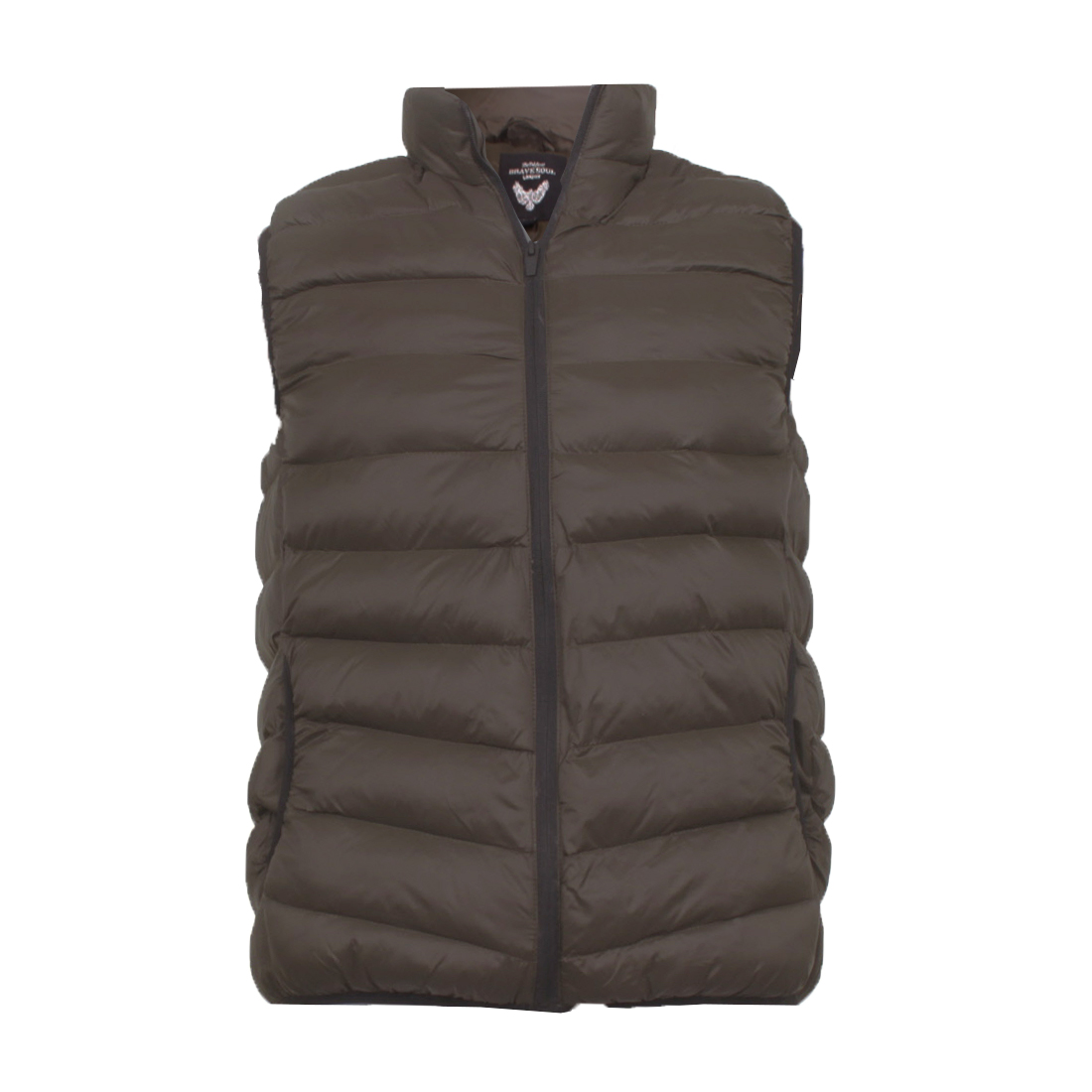 Brave-Soul-Men-039-s-Gillet-Body-Warmer-with-Or-Without-Hood-Puffer