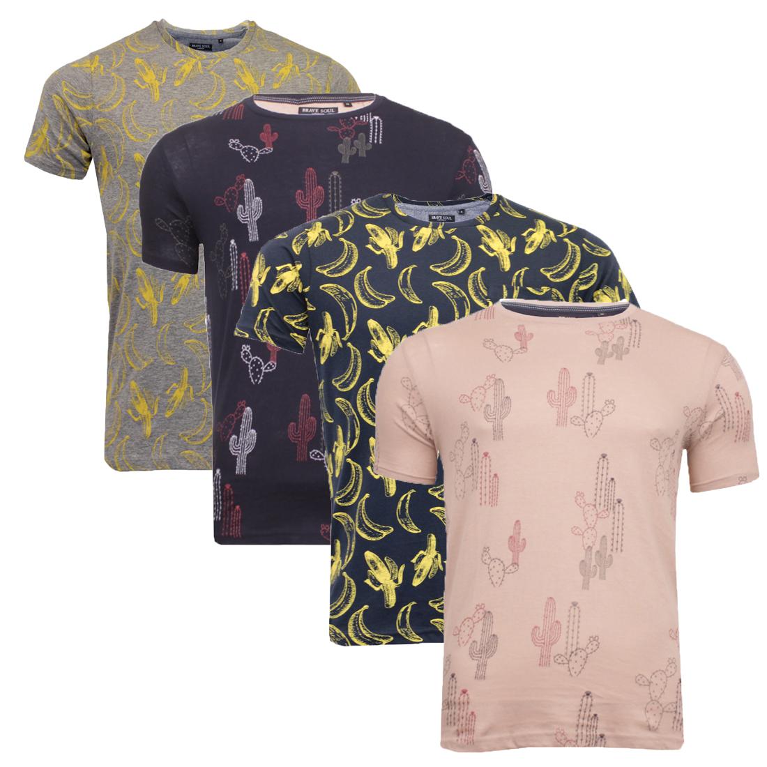 Mens brave soul photo print t shirts graphic or plain for Plain t shirts to print on