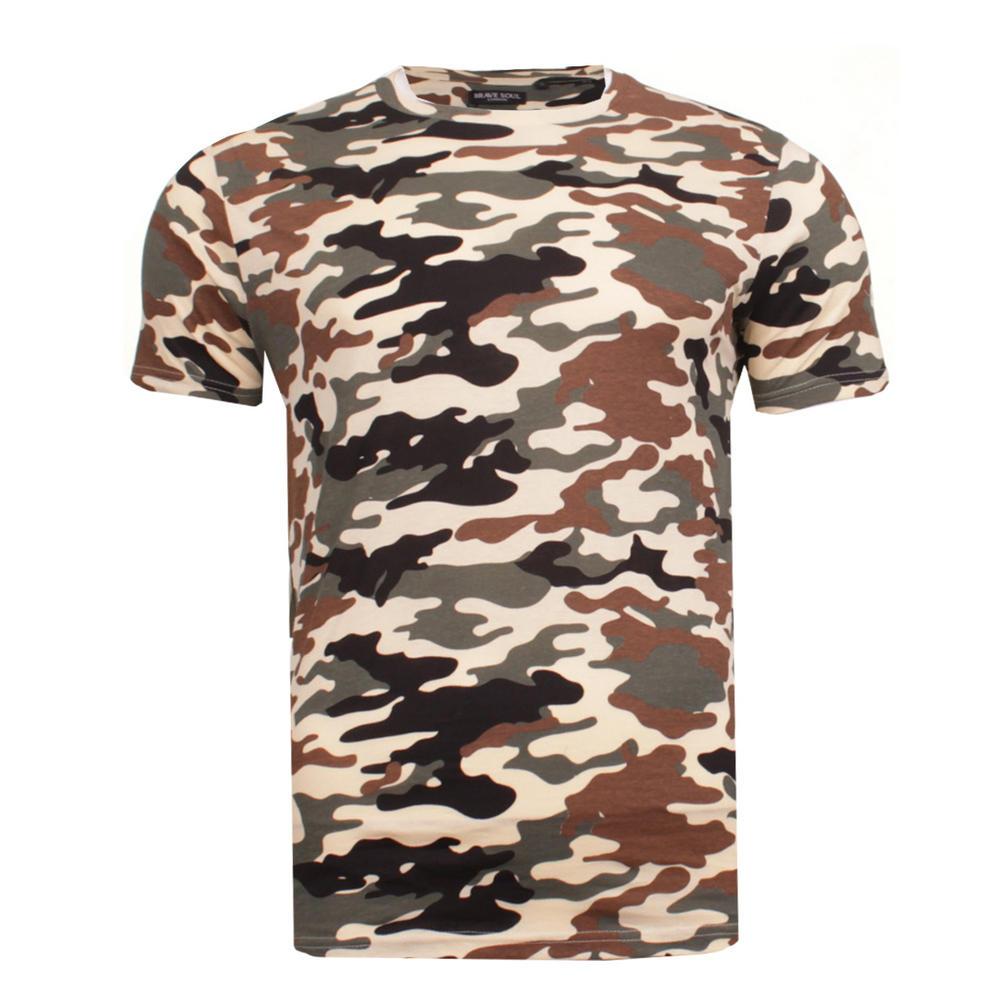 384c2df1 Men's Brave Soul 100% Cotton Camo Disguise T-Shirt Military Camouflage Tee  Thumbnail 3. Next