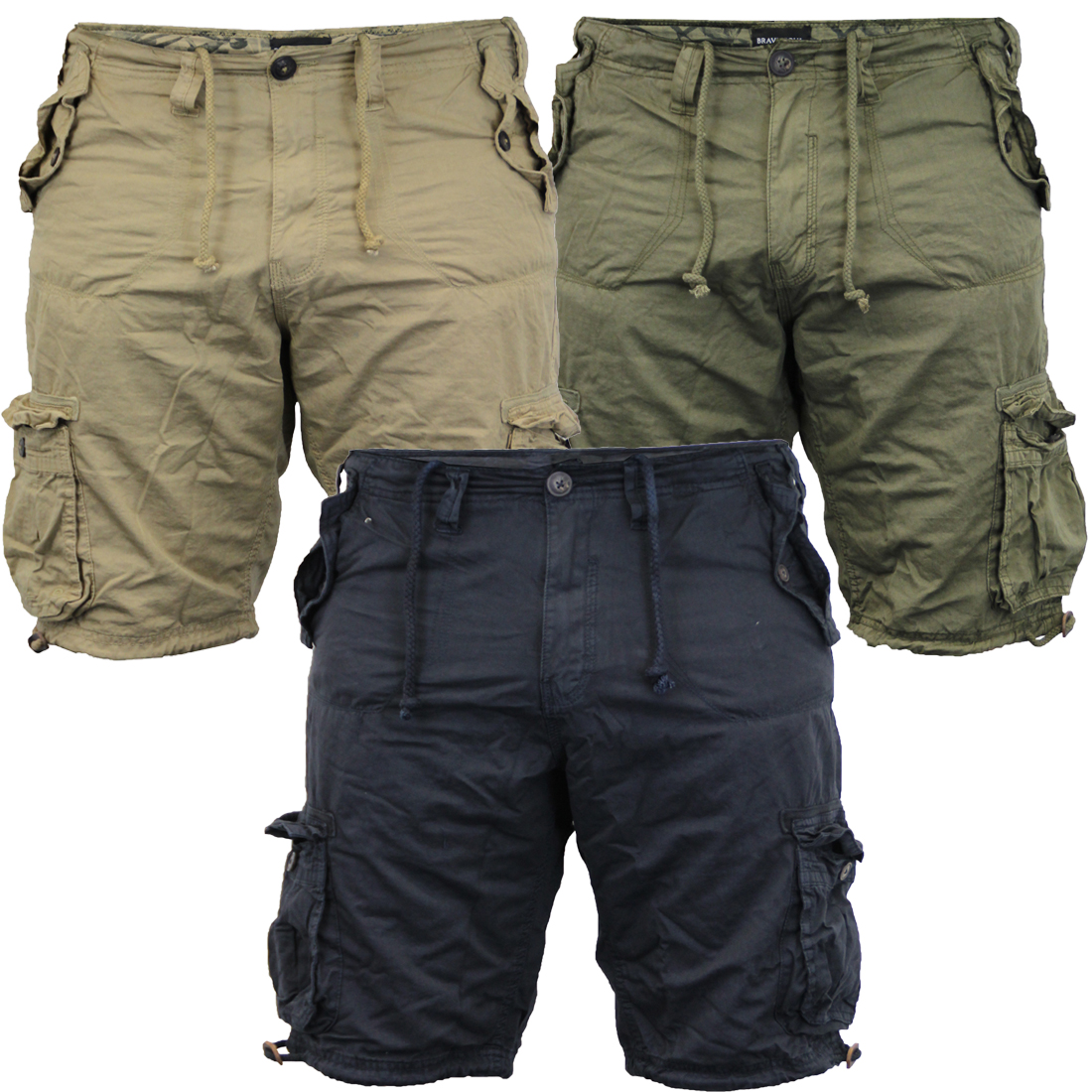 b958ca69d1 Men's Brave Soul George Cargo Utility Hiking Short Cotton Twill ...