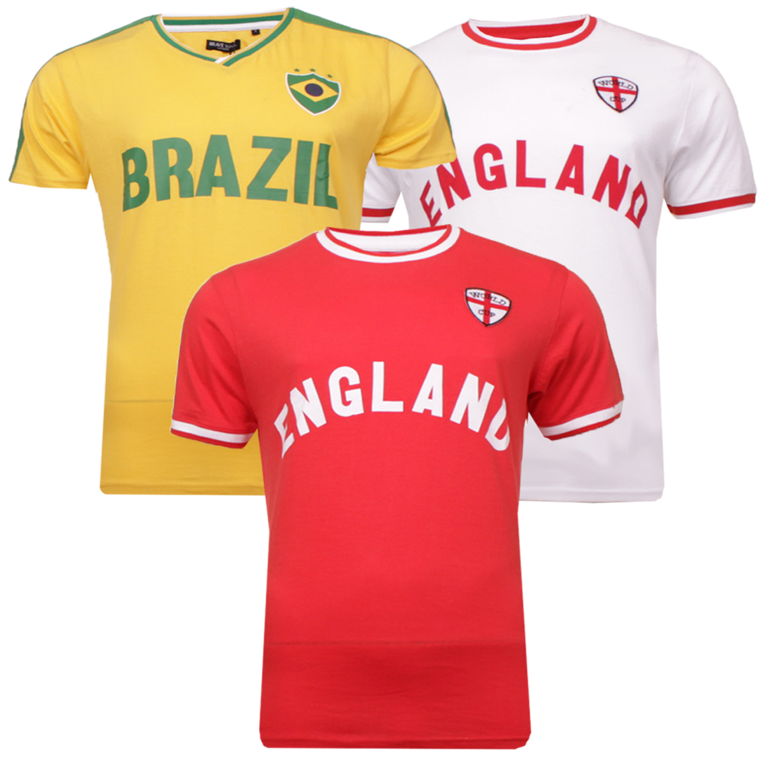 cc53530fc29414 Sentinel Brave Soul Adult   Kids World Cup 2018 Inspired Football T-Shirts  England Brazil