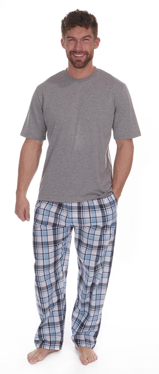 Hommes coton Cargo Bay Pj Pyjama Lot courte en coton Hommes mélangé manches Loungwear 046b1a