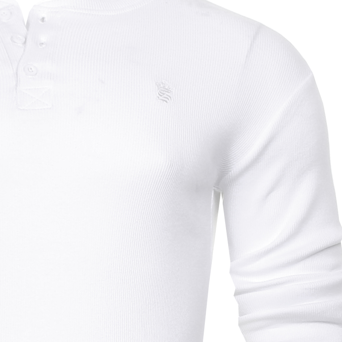 Men-Grandad-T-Shirt-Long-Sleeve-Jersey-Ribbed-Top-Cotton-Rich-Brave-Soul thumbnail 33