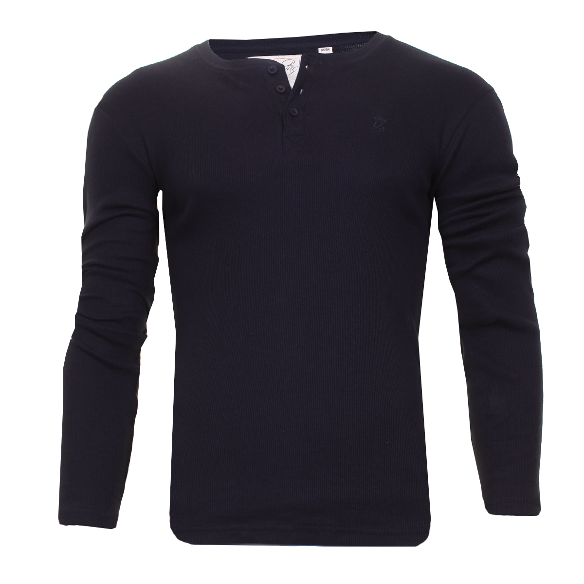 Men-Grandad-T-Shirt-Long-Sleeve-Jersey-Ribbed-Top-Cotton-Rich-Brave-Soul thumbnail 23