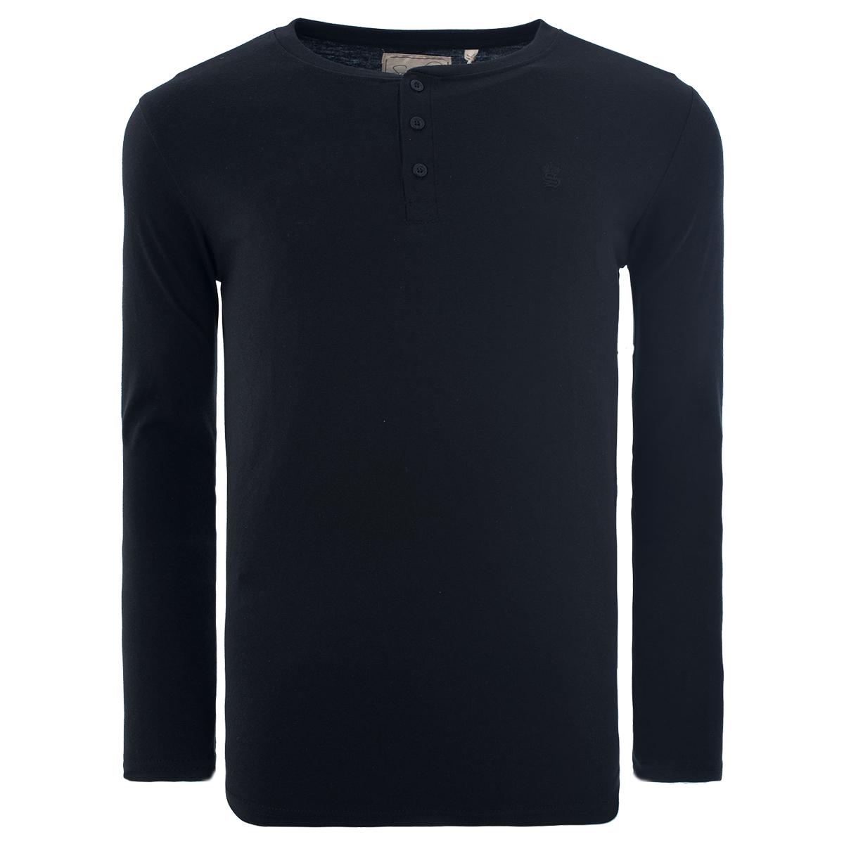 Men-Grandad-T-Shirt-Long-Sleeve-Jersey-Ribbed-Top-Cotton-Rich-Brave-Soul thumbnail 44