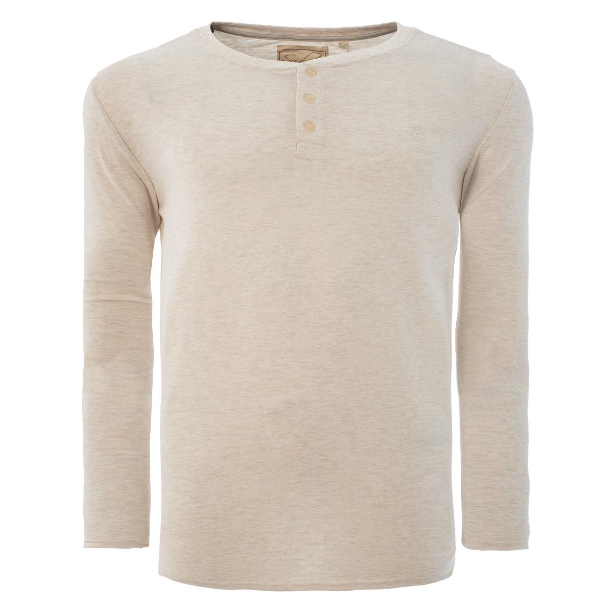 Men-Grandad-T-Shirt-Long-Sleeve-Jersey-Ribbed-Top-Cotton-Rich-Brave-Soul thumbnail 58