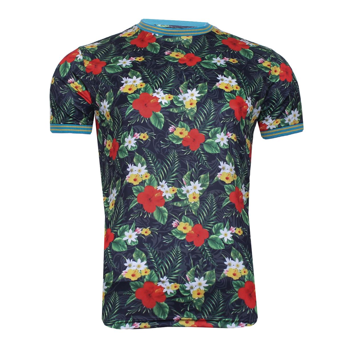 Mens Brave Soul Fun Print Matching Hawaiian T-Shirts and Shorts