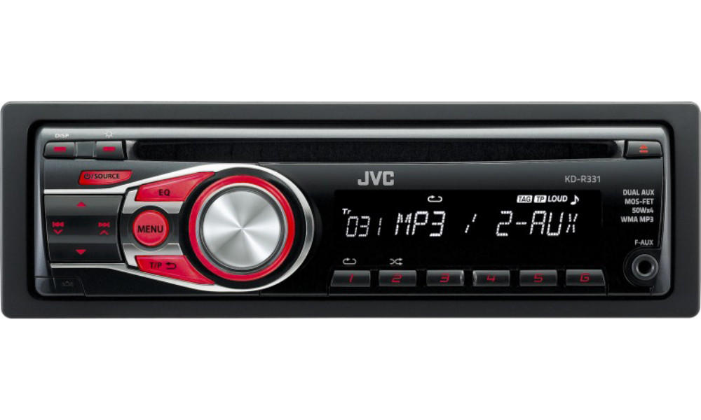 MP3 JVC KD R331 CD 2 x AUX IN 1 x PRE OUT CAR STEREO NEW