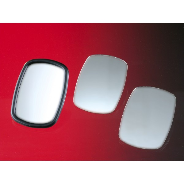 Fits on RHS of Vehicle Summit Replacement Heated Wide Angle Mirror Glass with Backing Plate