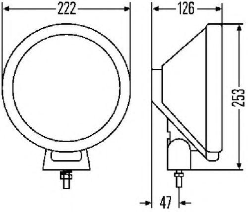 6 inch 100W Halogen Driver side WITH install kit 2007 Suzuki FORENZA SEDAN Post mount spotlight -Chrome