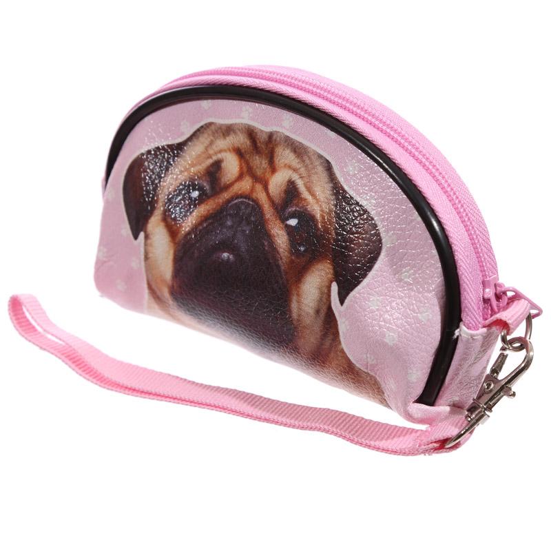 1x Funky Pug Small Make Up Bag