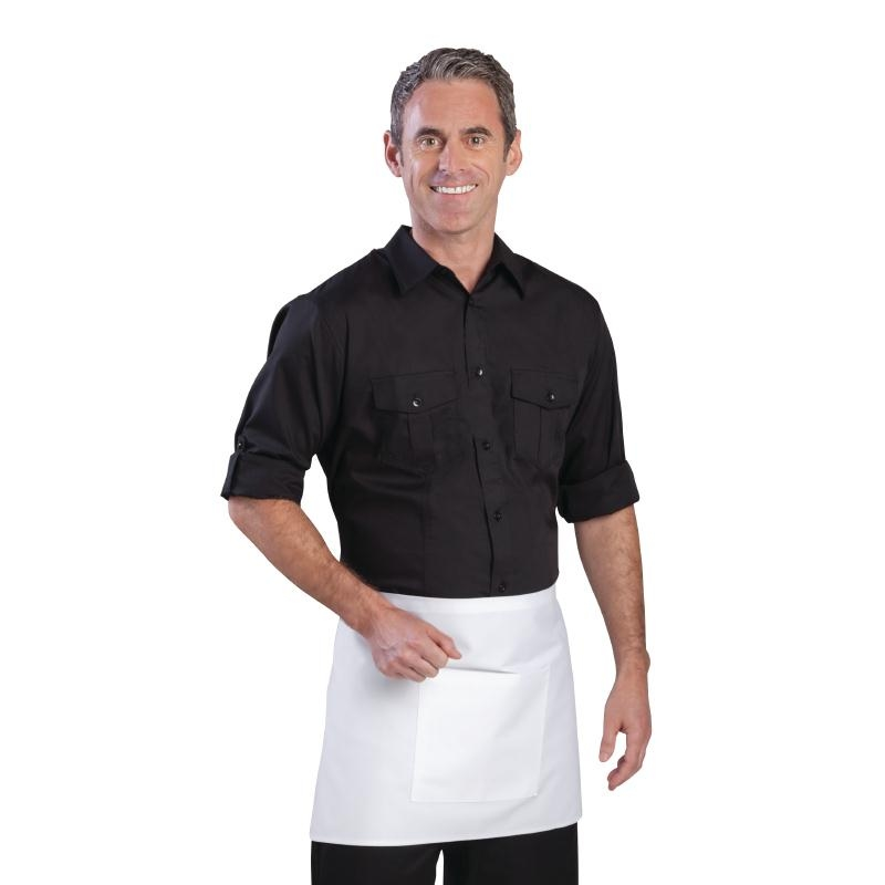 e0d887f9 Details about Chef Works Mens Pilot Shirt Black S (Next working day UK  Delivery)