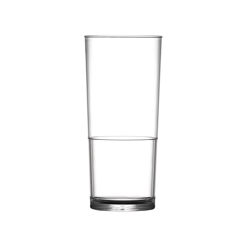 6 Unbreakable Polycarbonate 1//2 Pint In2Stax Glasses