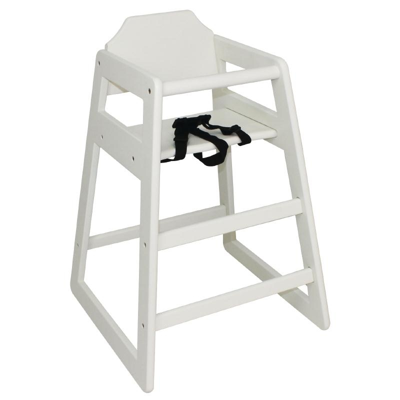 Bolero Wooden High Chair Antique White Finish