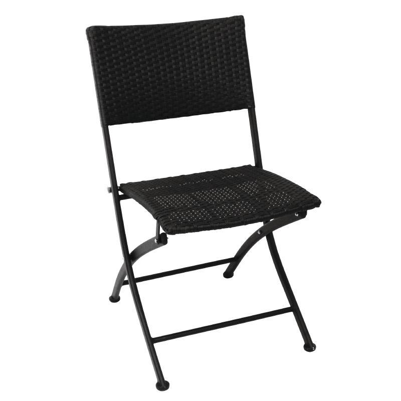 Bolero PE Wicker Folding Chair Set (Pack Of 2)