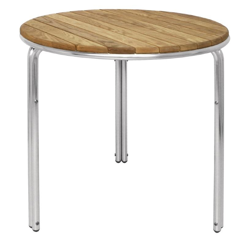 Details About Bolero Round Ash And Aluminium Table 600mm Next Working Day Uk Delivery